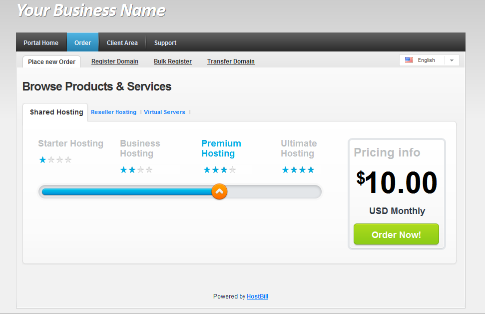 Order accounts for CPanel