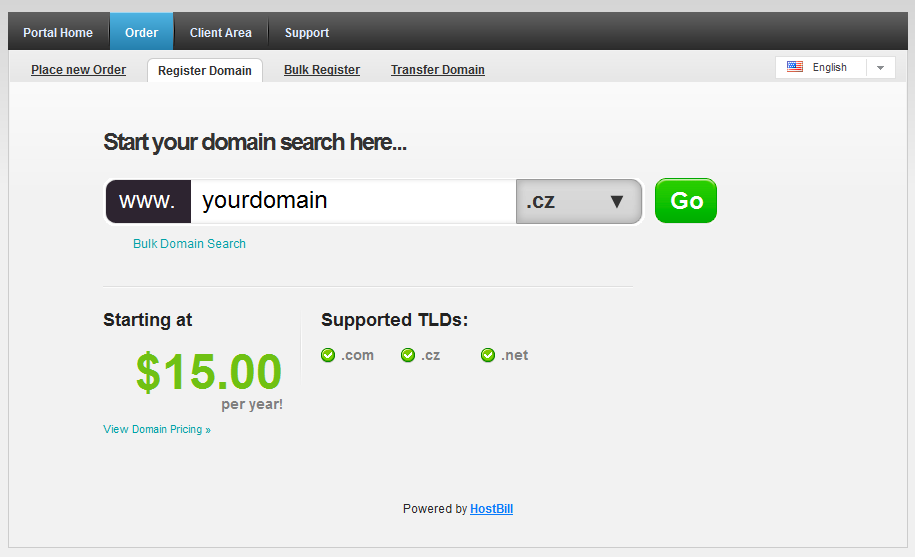 Order Domains with Subreg.cz